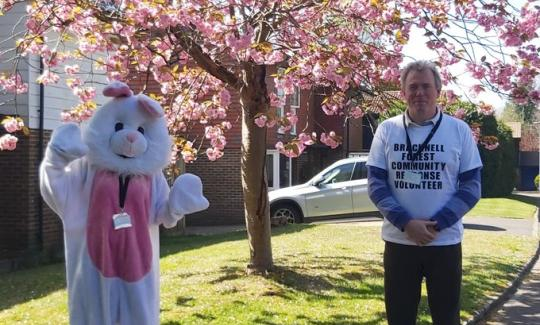 James Sunderland MP spends a day delivering Easter eggs with Healthwatch & the Ark Trust.