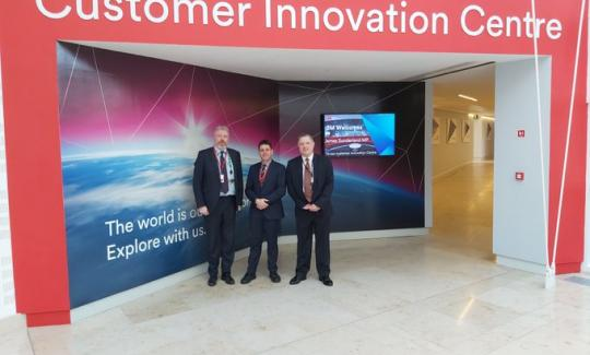 James Sunderland MP on a visit to 3M in Bracknell.