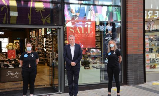 James Sunderland visits the Lexicon as shops reopen