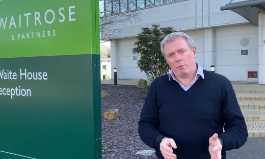 James Sunderland MP thanks Waitrose staff
