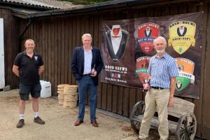 James Sunderland MP visits Bond Brews Ltd in Workingham Without