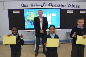 James Sunderland MP visits St Sebastian's CE Primary School