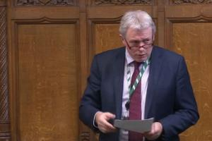 James Sunderland MP makes a speech in the House of Commons
