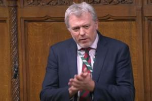 James Sunderland MP speaking in the House of Commons
